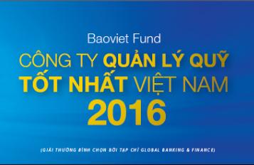 Công ty Quản lý Quỹ Bảo Việt nhận giải thưởng Công ty Quản lý quỹ tốt nhất Việt Nam